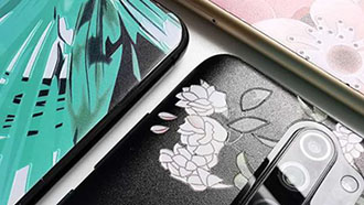 Mobile phone skin with pattern,texture and embossed