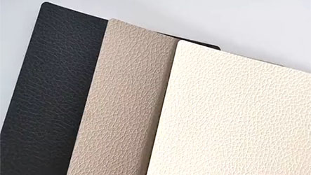 Leather pattern back films for mobile phone