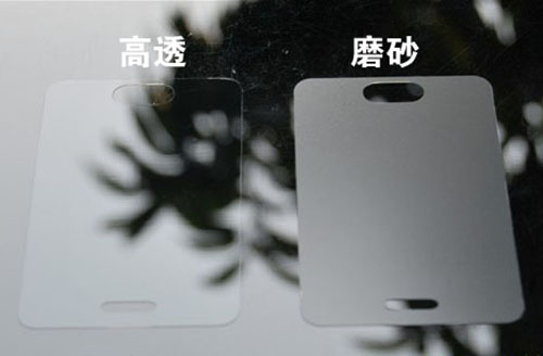 HD screen protector and matte screen protector