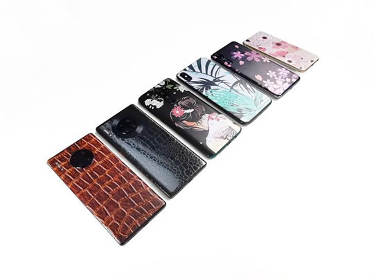 The embossed pattern mobile phone skin
