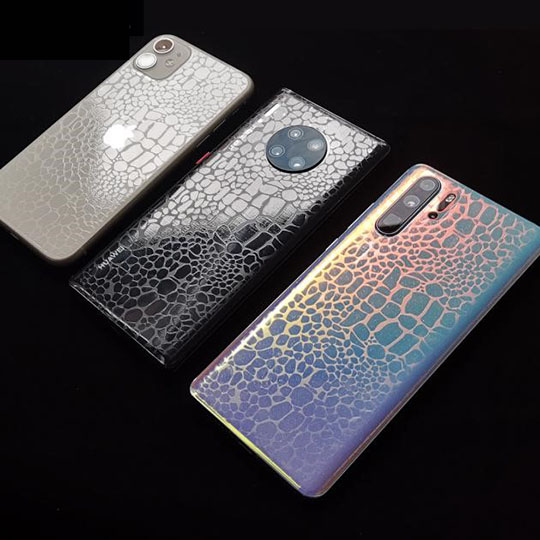 Textured mobile phone skin